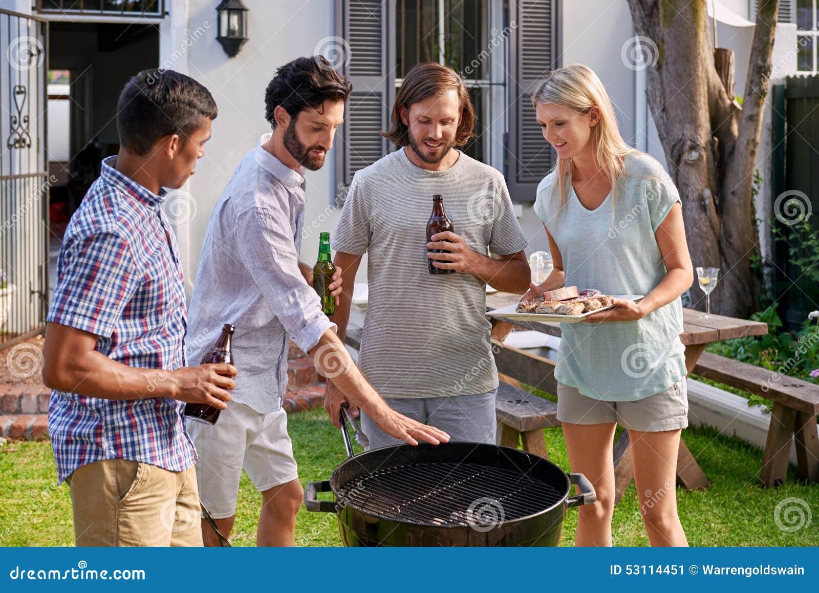 Bbq Garden Party Stock Photo - Image: 53114451