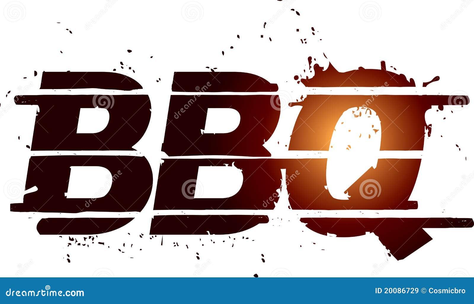 Bbq graficzny grilla tekst