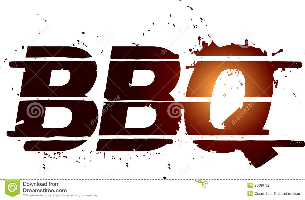 BBQ Grill Graphic Text Royalty Free Stock Images - Image: 20086729