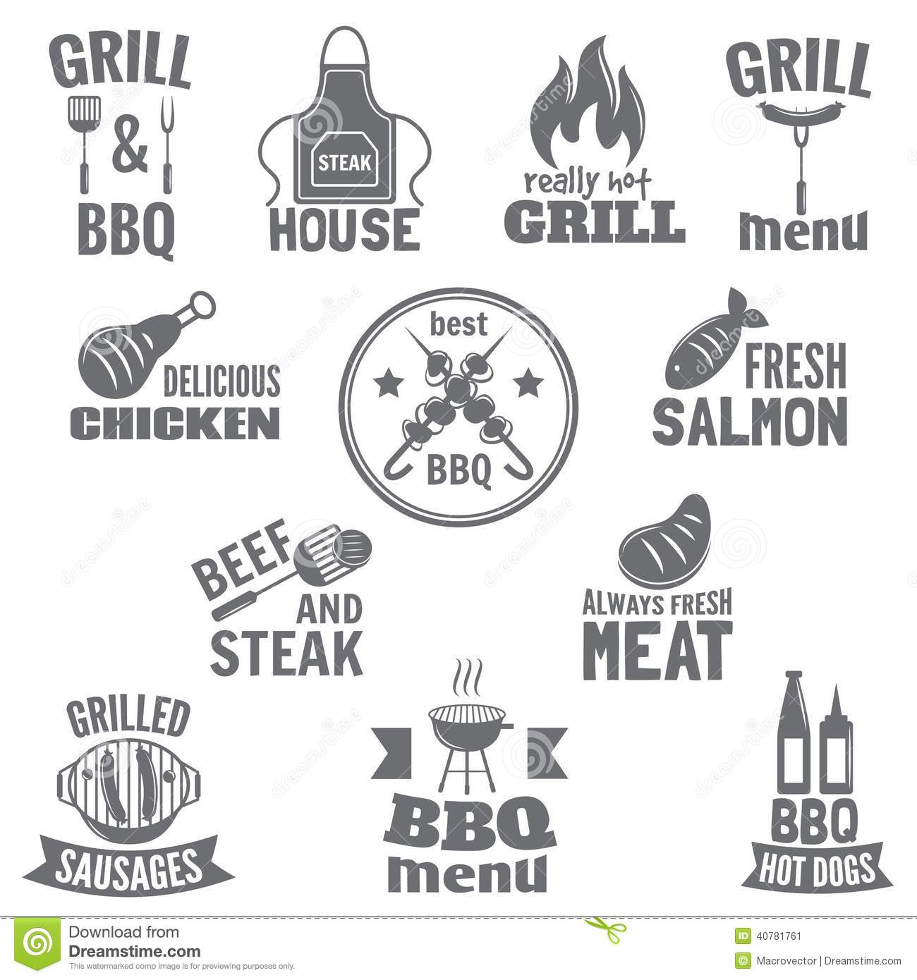 Bbq Grill Label Stock Vector Image 40781761