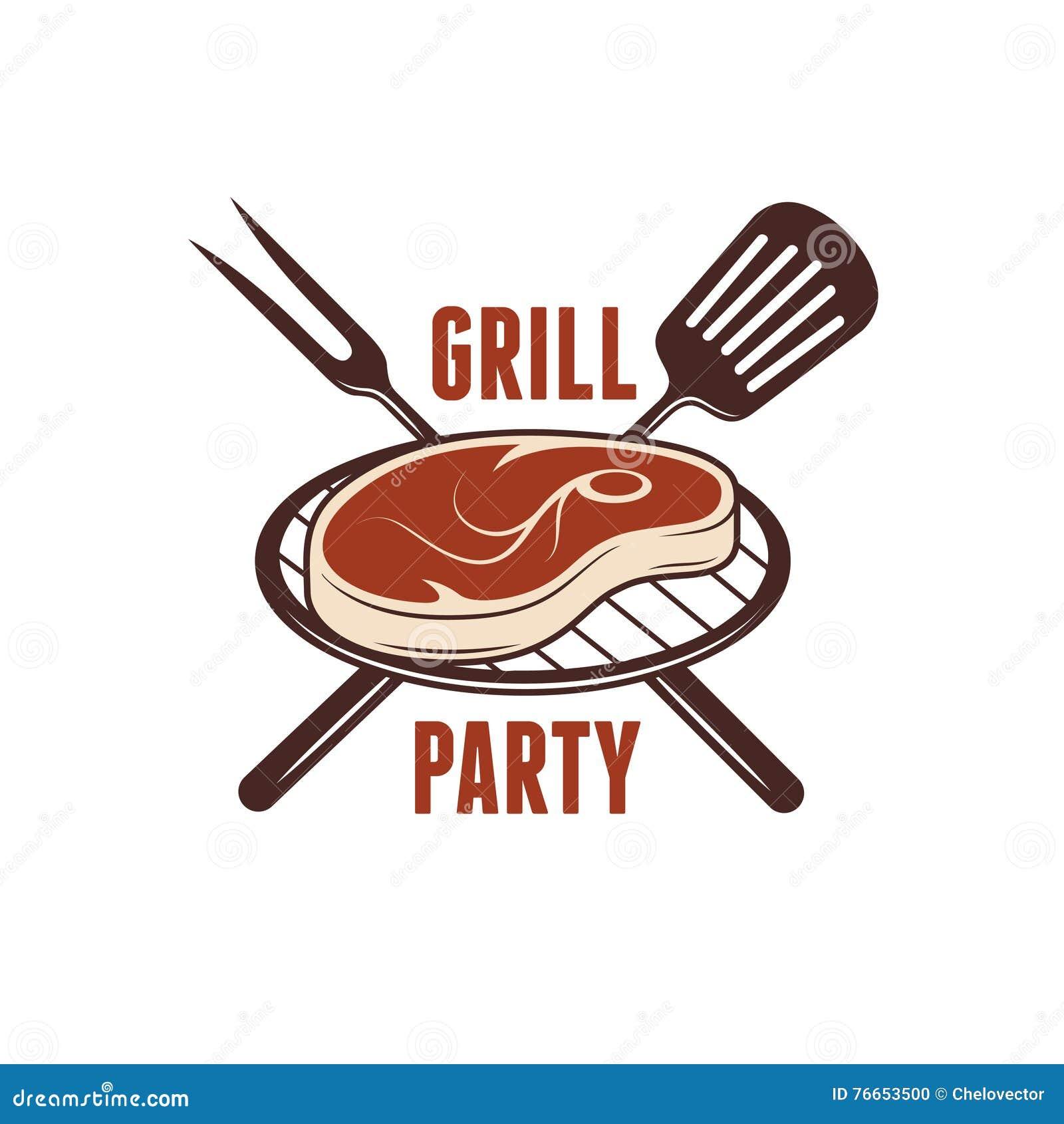 Grill Meat Vector Illustration. Cartoon Vector ...