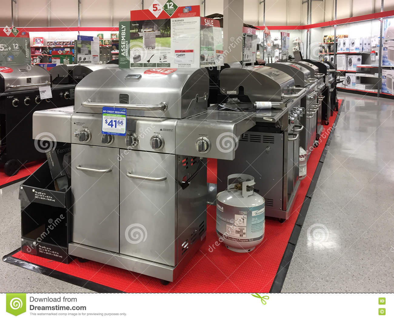 BBQ Grill For Sale At Store Editorial Photo - Image of cook