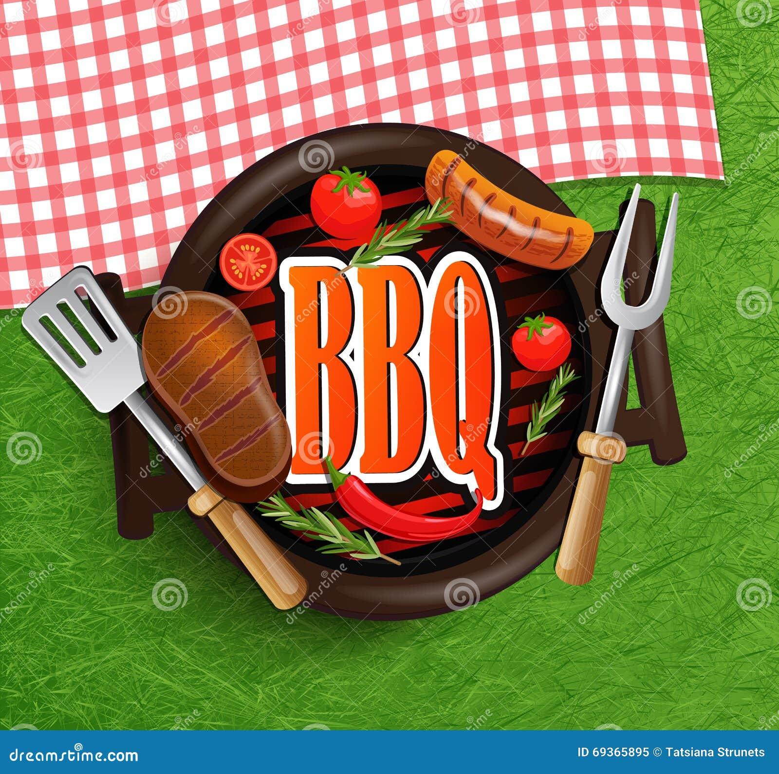 BBQ grilla elementy