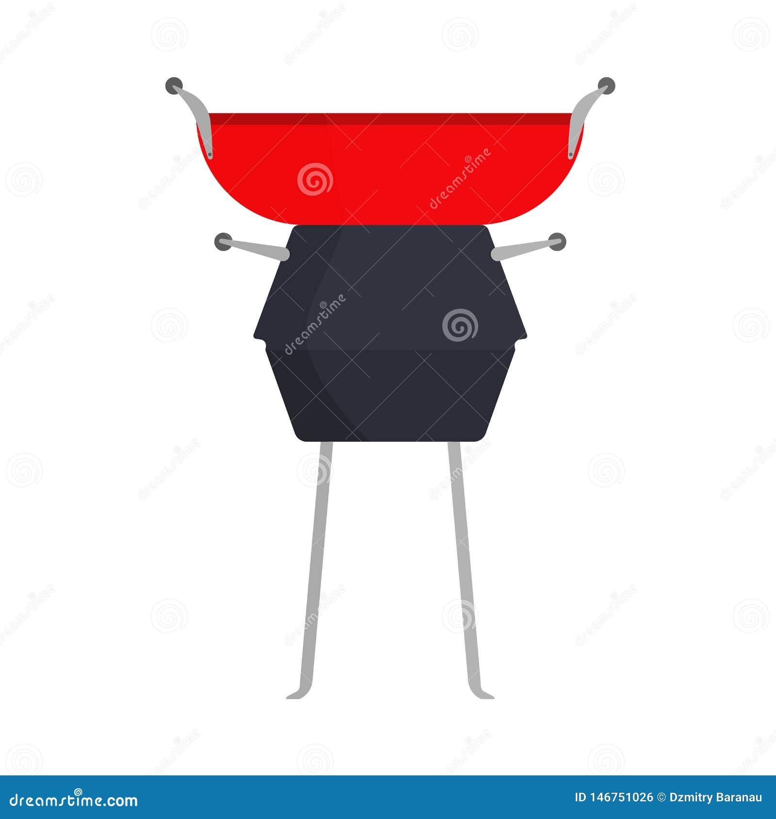 BBQ grilla jedzenia przyjęcia ikony wektorowy znak Grilla stku lata mięsny pinkin Rocznika czarny kuchenny kulinarny plenerowy