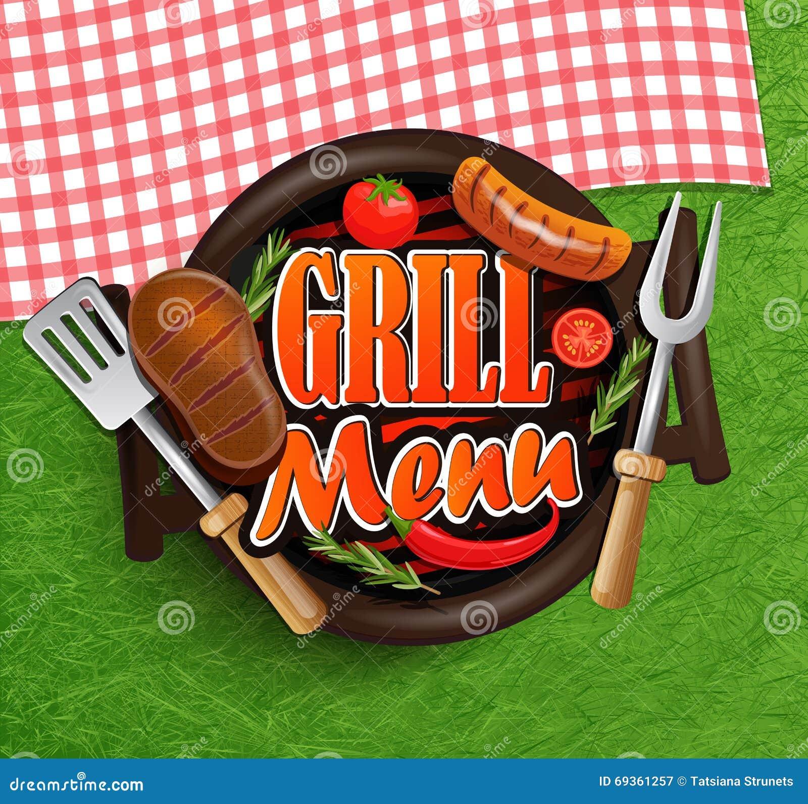 Bbq grilla menu