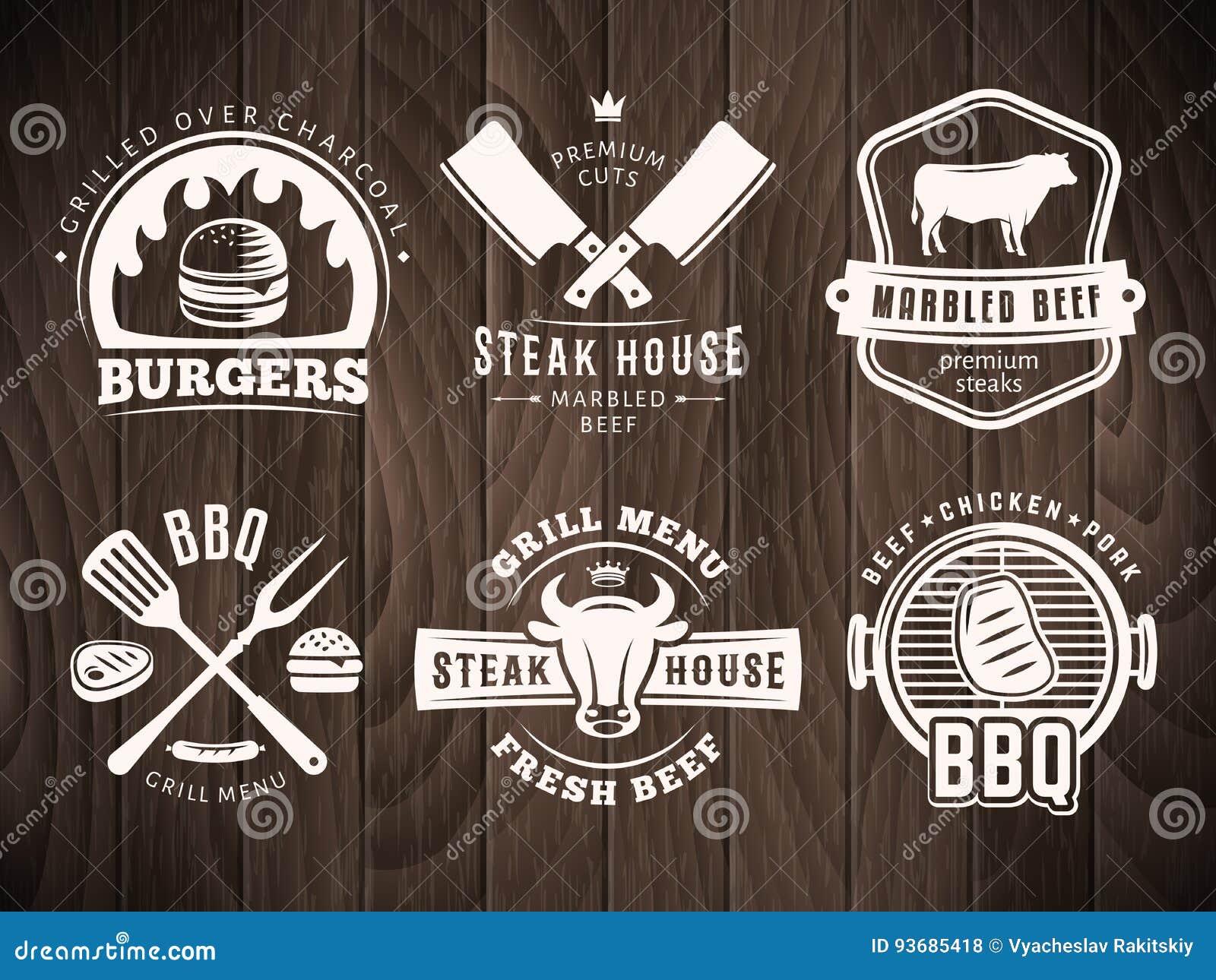 BBQ, hamburger, grill odznaki