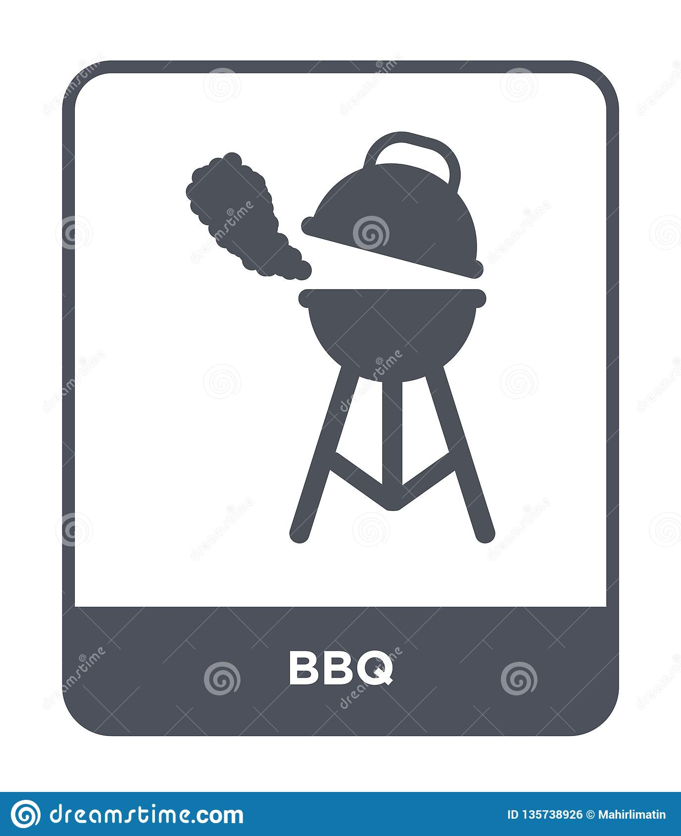 bbq icon in trendy design style. bbq icon isolated on white background. bbq vector icon simple and modern flat symbol for web site