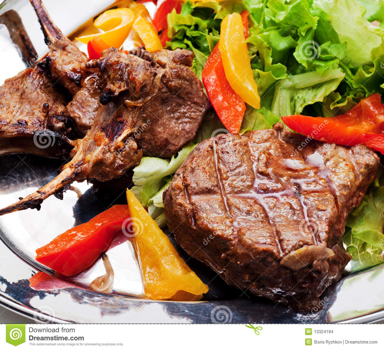BBQ Meat Plate Stock Images - Image: 13324194