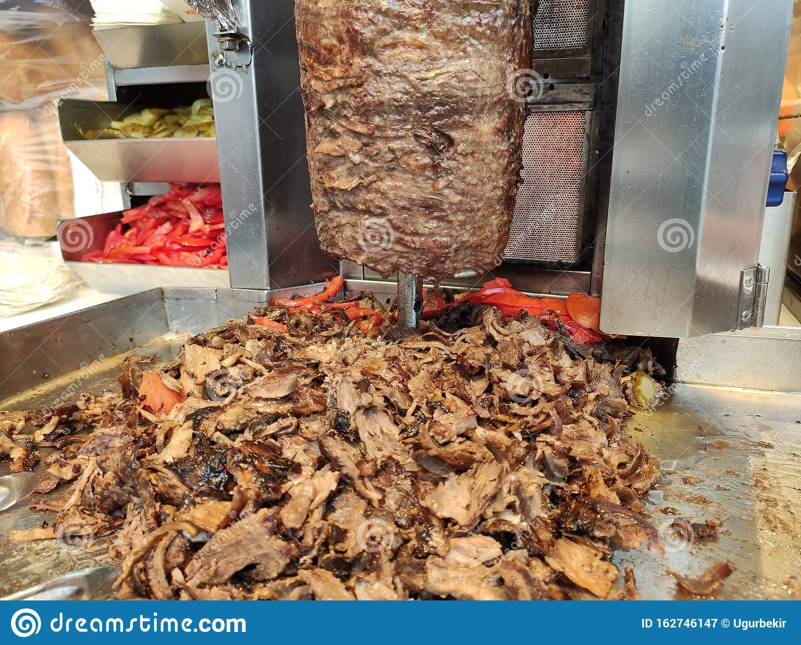 Bbq Meat For Turkish Doner Kebab In A Restaurant In Istanbul Stock Image Image Of Cooked Fried 162746147