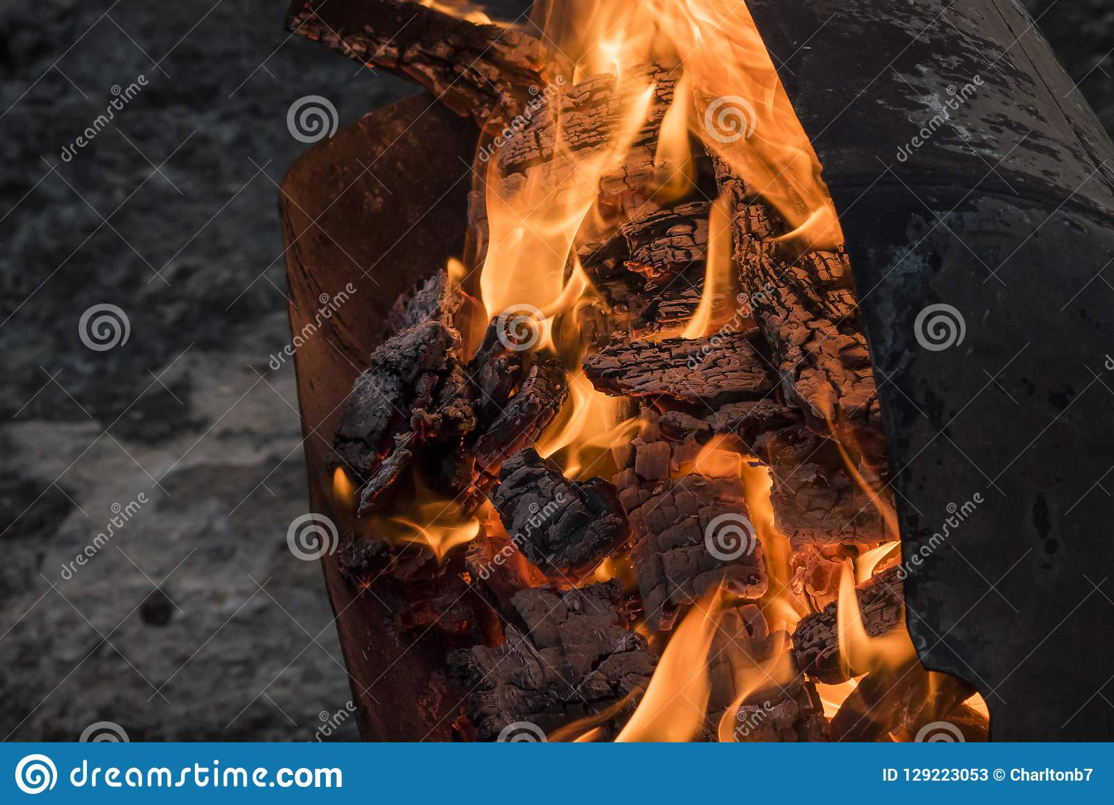 BBQ ogień