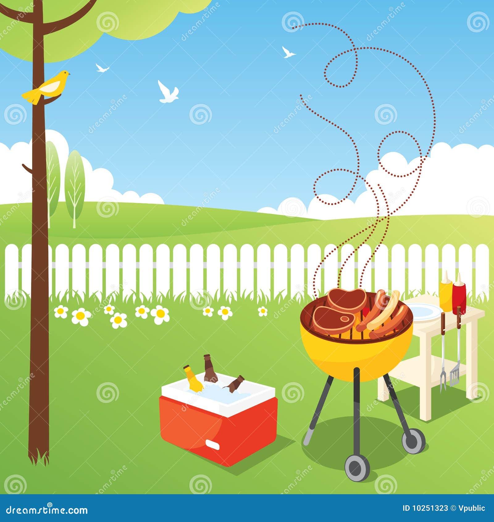 bbq party stock vector. illustration of bird, kebab, garden - 10251323