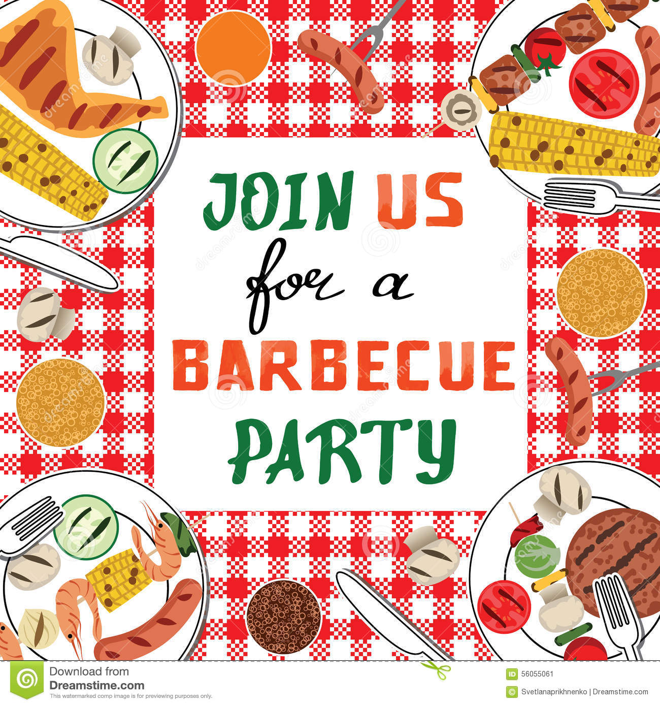 Bbq Party Stock Vector Image 56055061