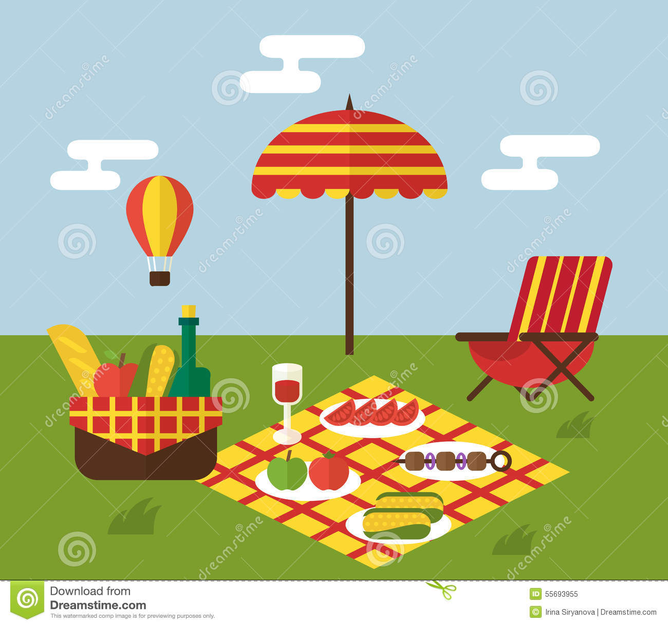 spring picnic clipart - photo #42
