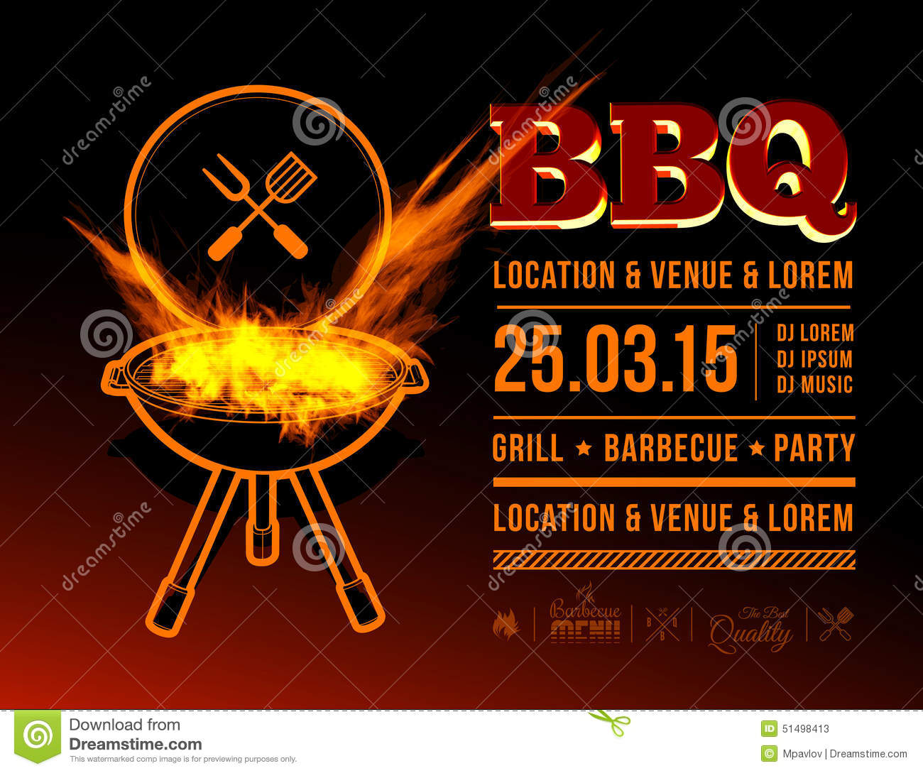 bbq party stock vector