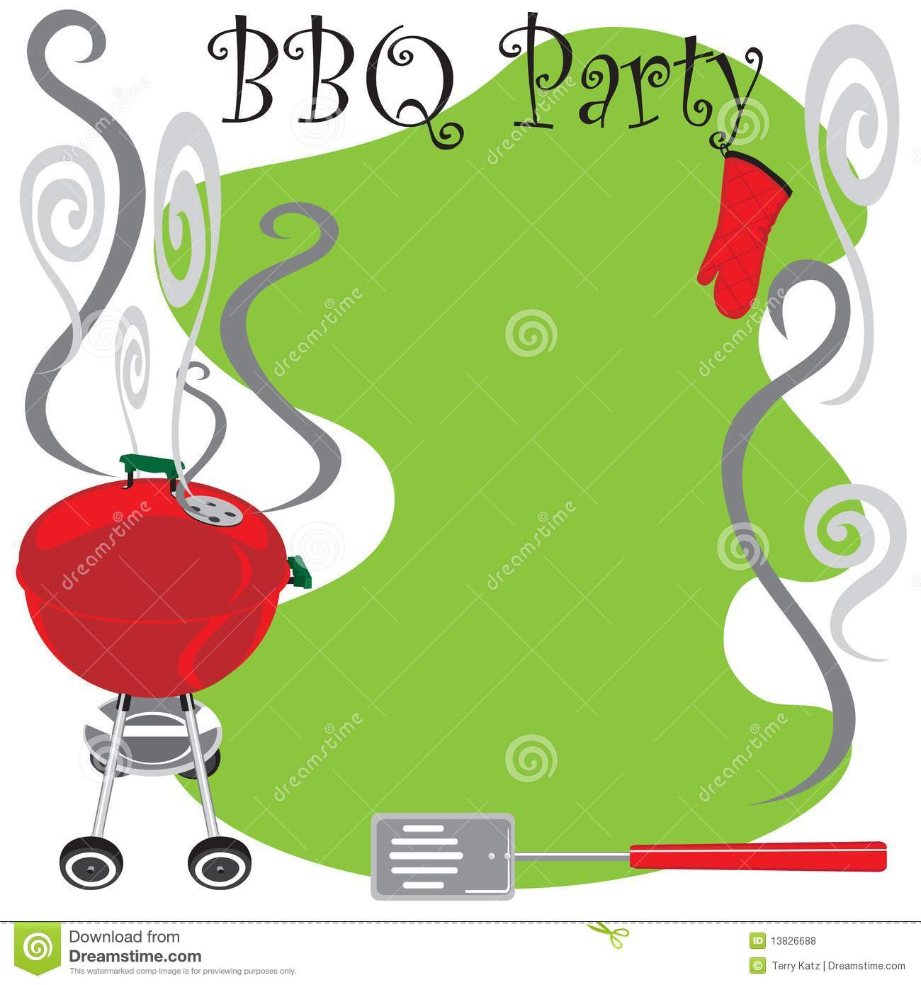bbq party invitation stock vector illustration of party 13826688. Black Bedroom Furniture Sets. Home Design Ideas