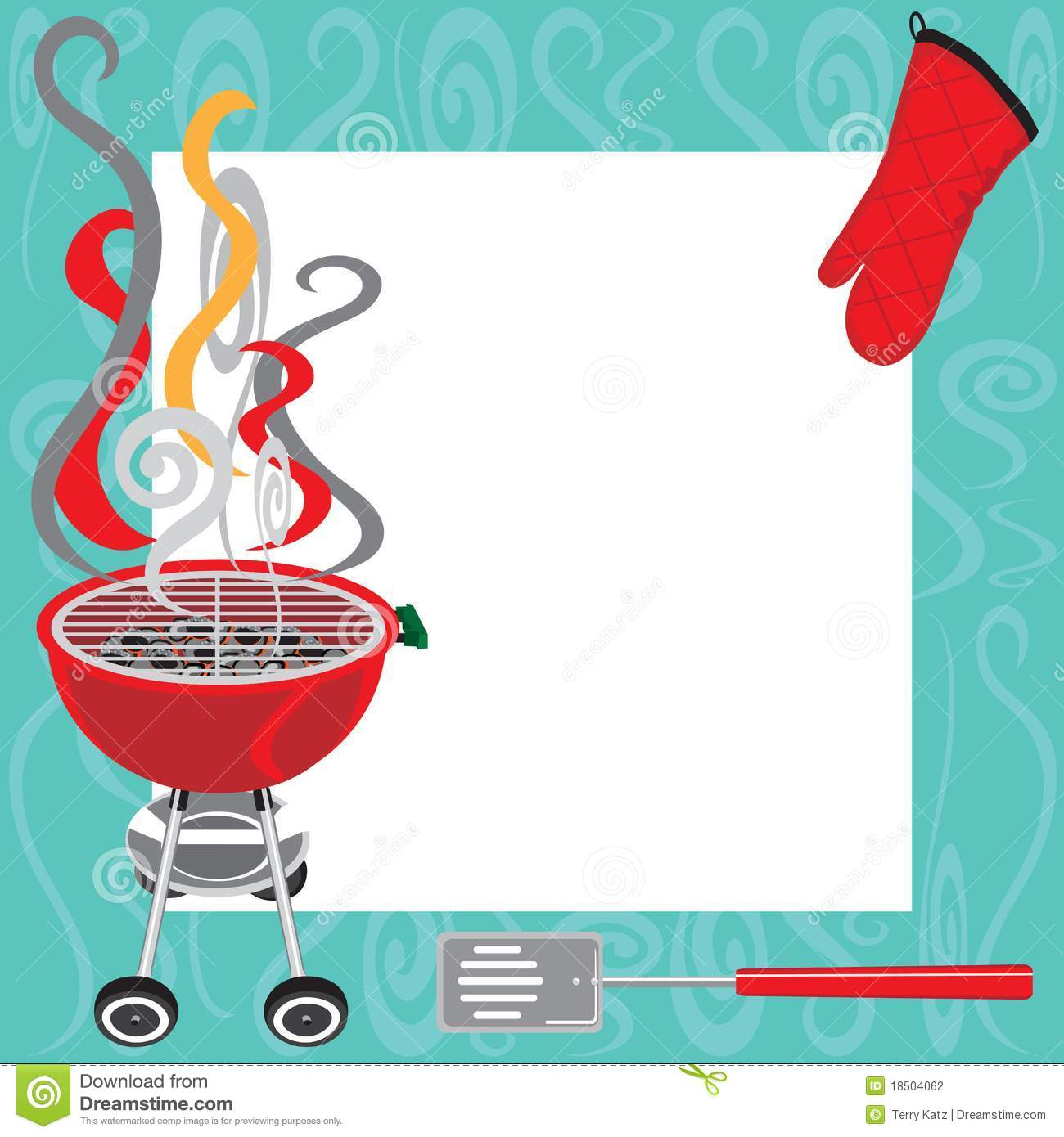 BBQ Party Invitation Stock Photography - Image: 18504062