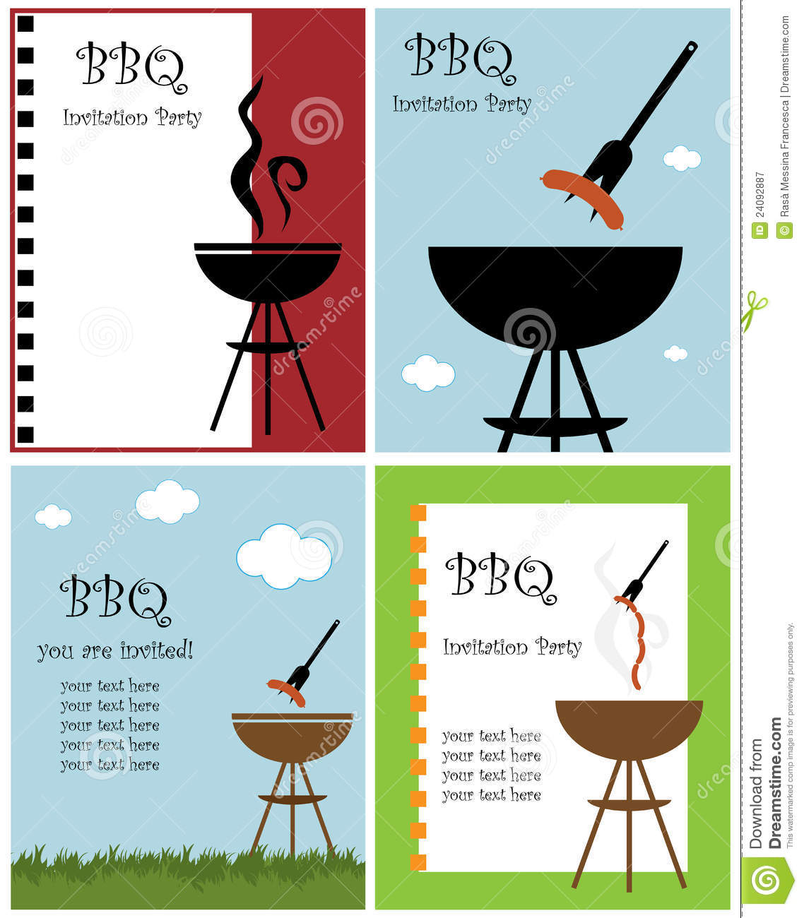 bbq party invitation royalty free stock photography  image, party invitations