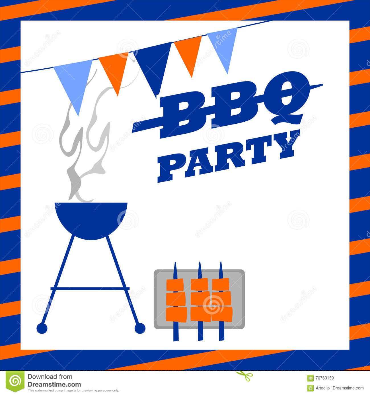 bbq party invitation stock image image of barbeque barbecue 70760159