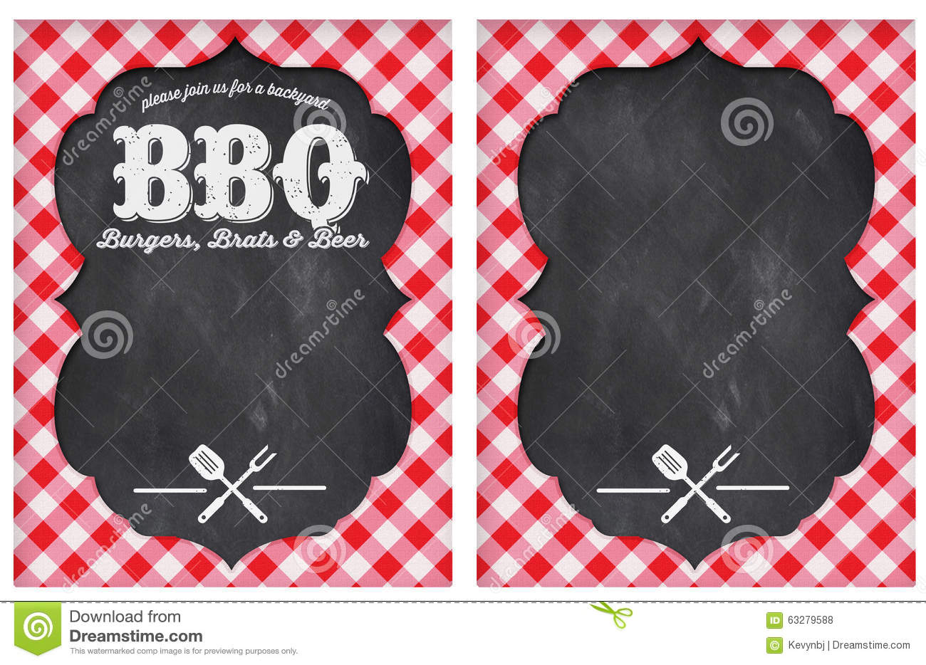 BBQ Party Stock Illustration - Image: 63279588