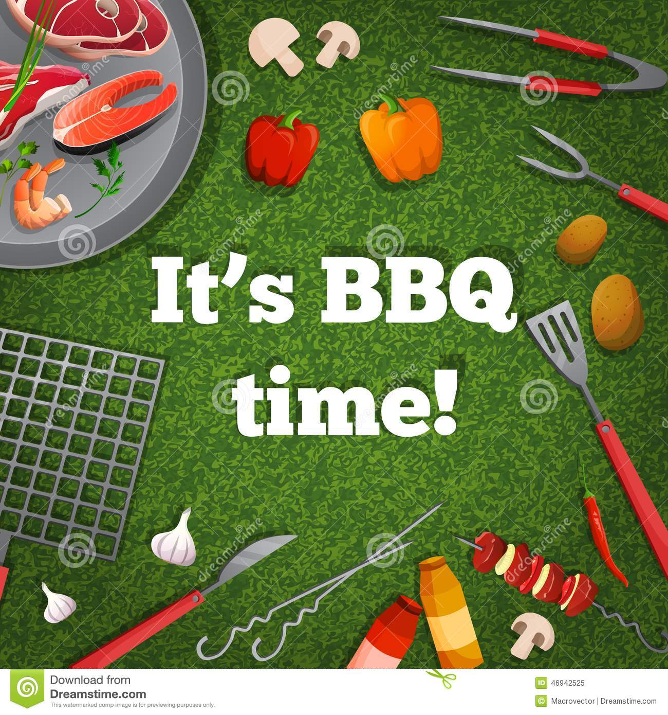 Bbq Picnic Poster Stock Vector Image 46942525
