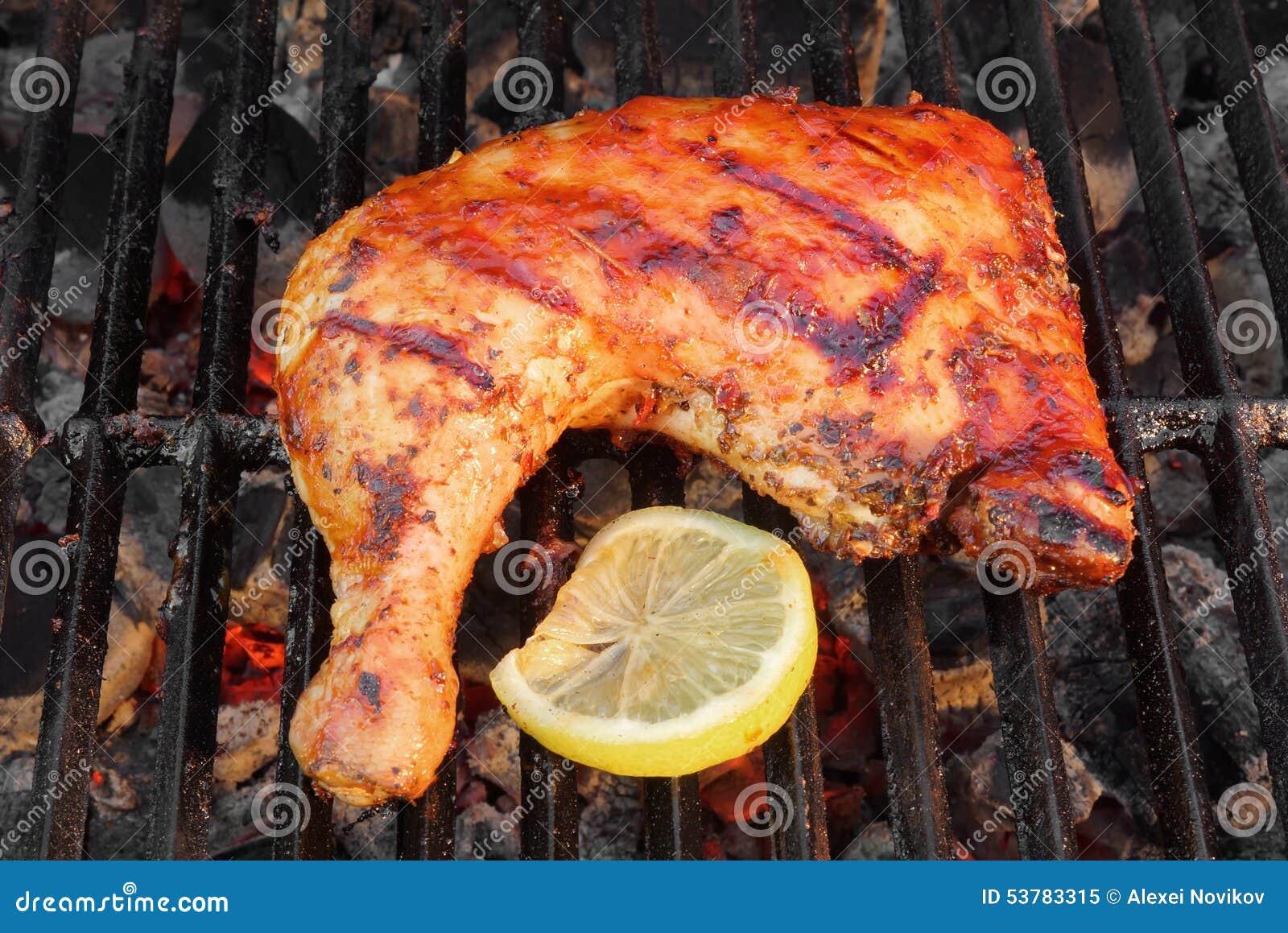 BBQ Piec kurczak nogi ćwiartka Na Gorącym grillu