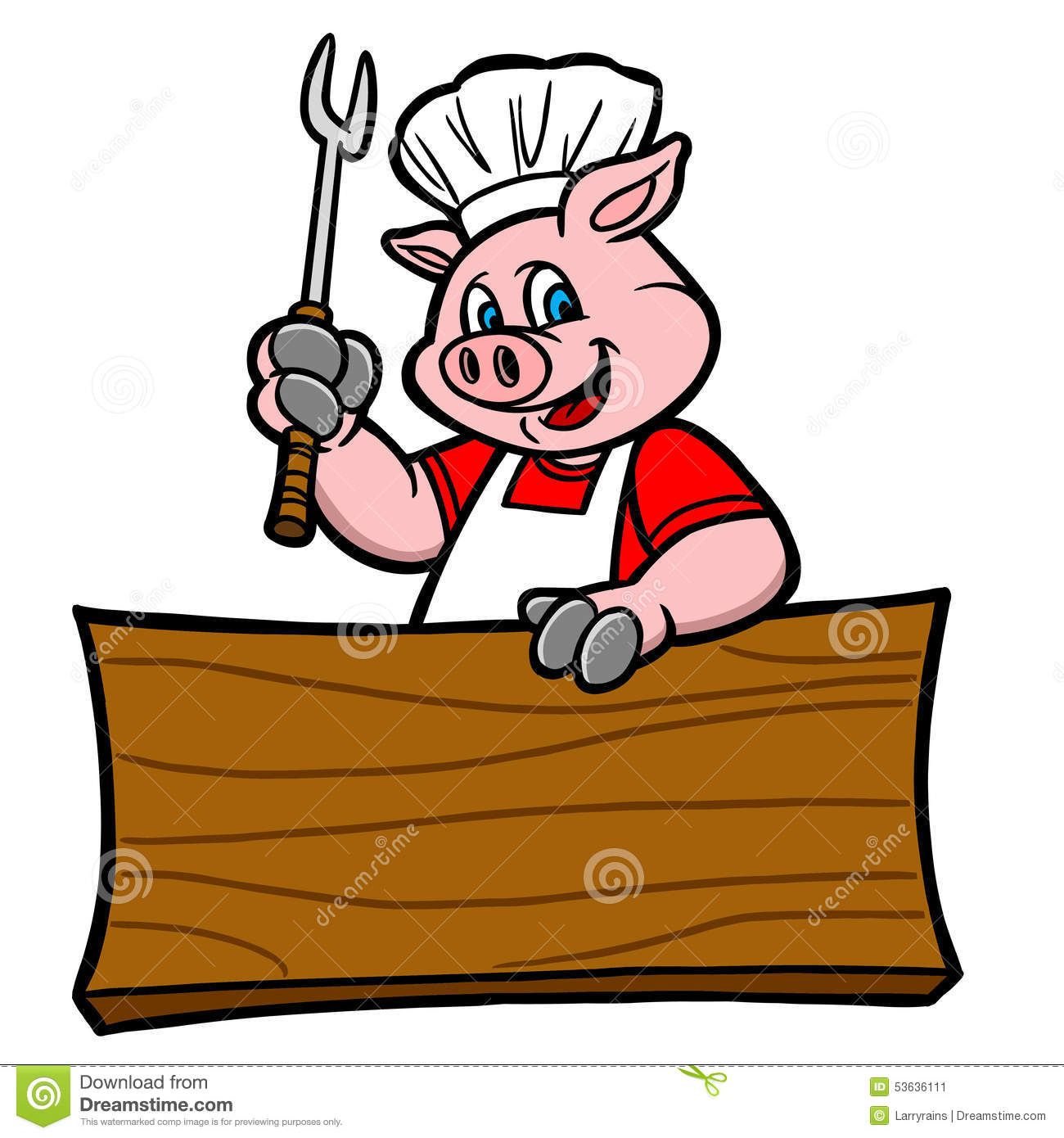 bbq pig with sign stock vector image 53636111 BBQ Background Clip Art Summer BBQ Clip Art