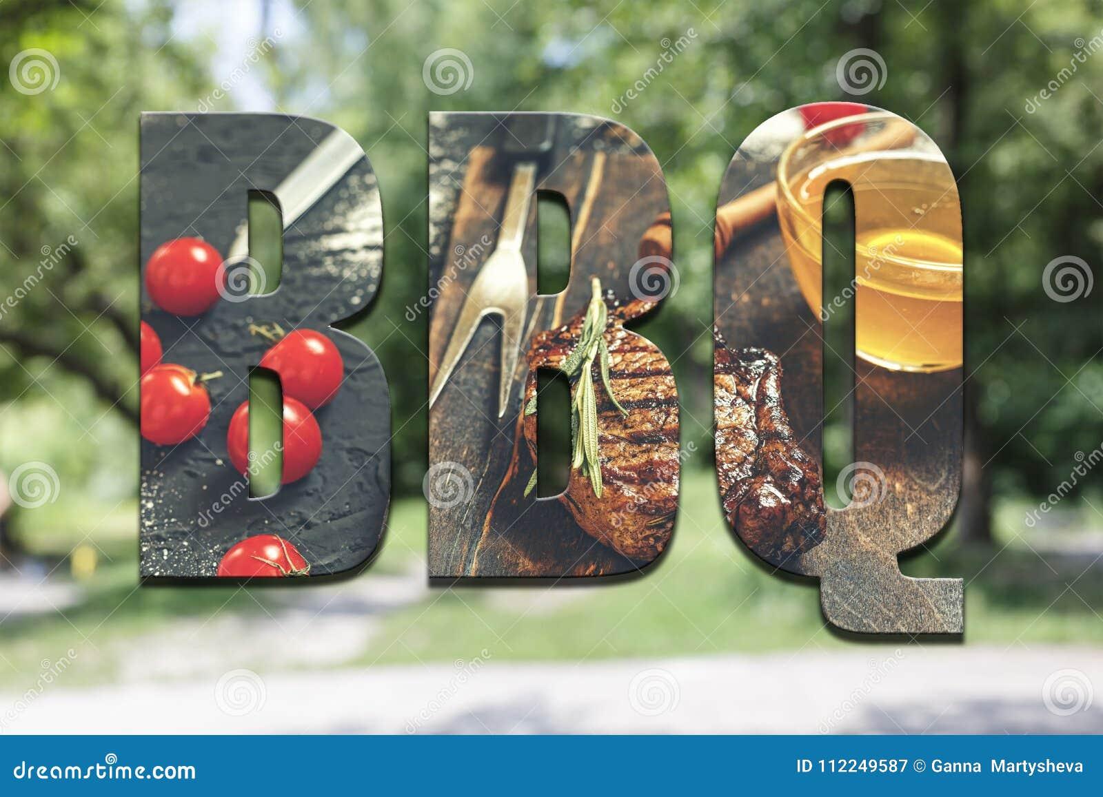 BBQ, pojęcie, lato pinkin, jedzenie, outdoors, pinkin, bbq, lifest