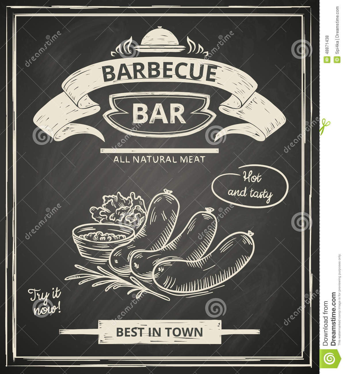 bbq poster stock vector image 48871438