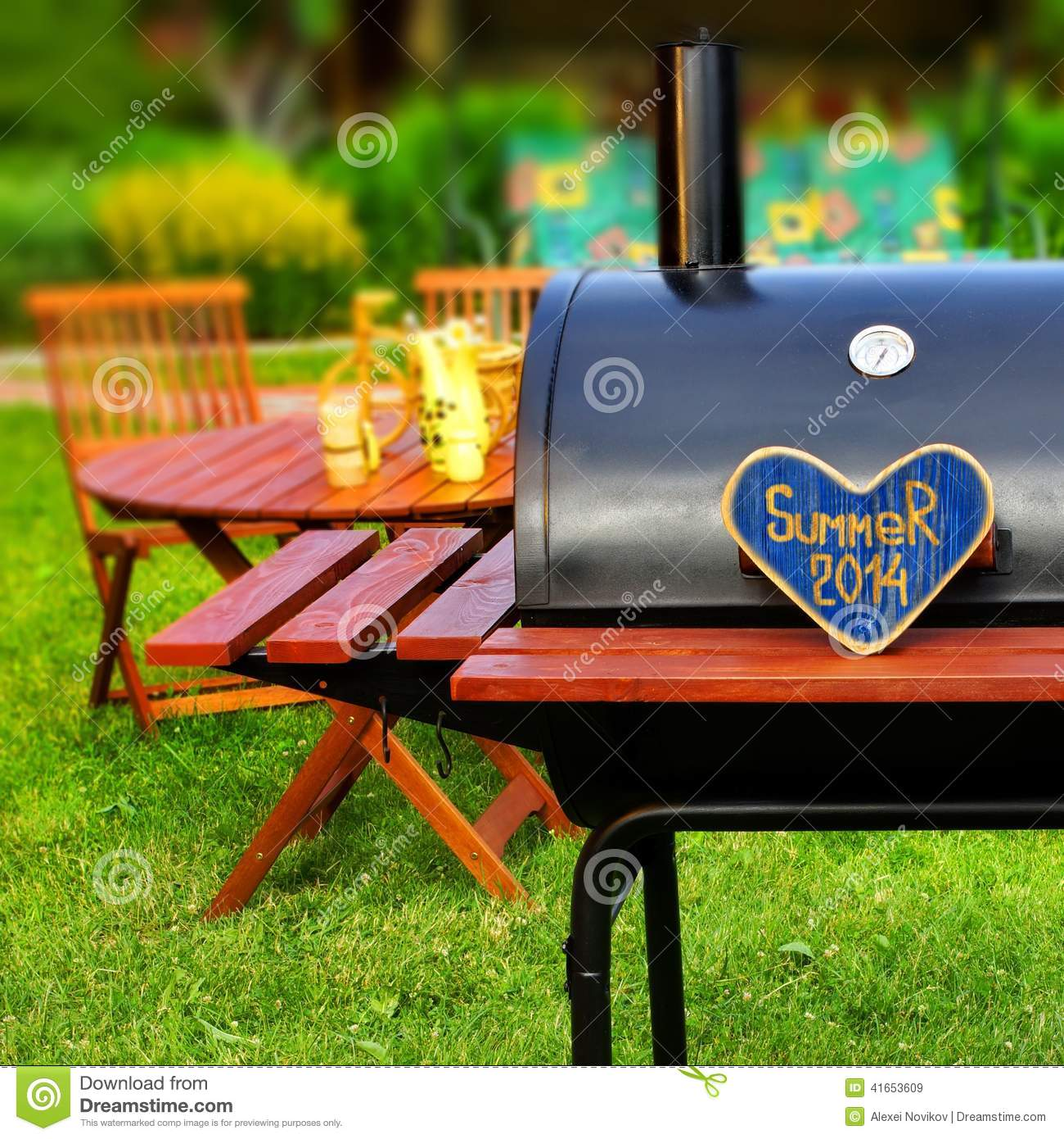 bbq summer backyard party scene stock photo image 41653609