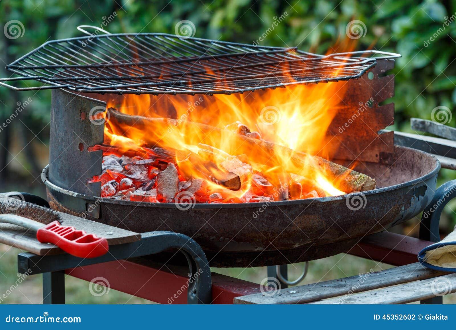BBQ sur le jardin