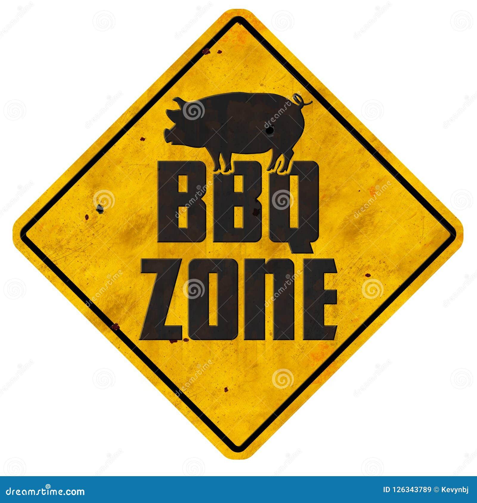 BBQ van de de Barbecuegrill van het Streekteken varkensvlees van de het gebieds het uitstekende retro binnenplaats