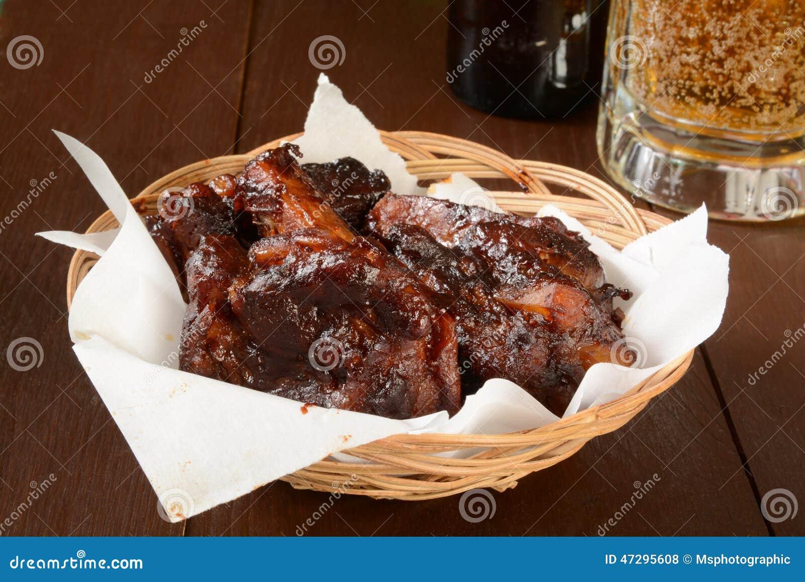 BBQ wieprzowiny piwo i ziobro