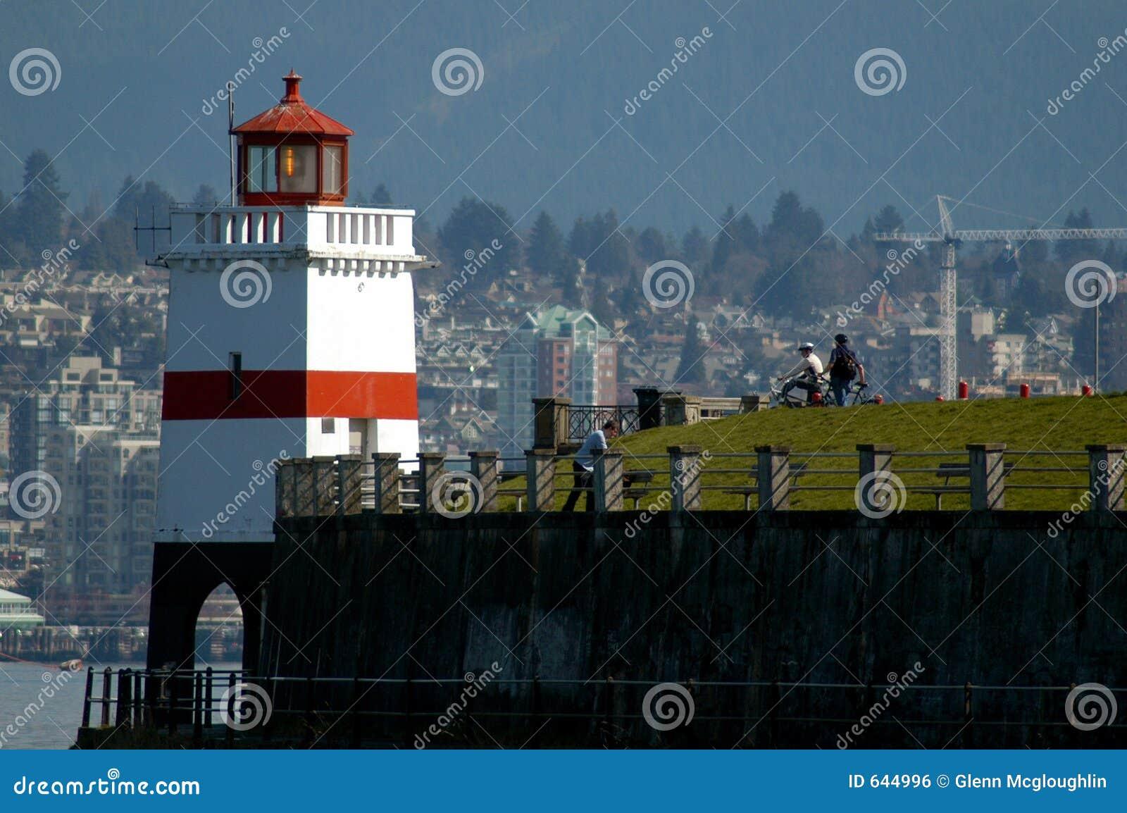 Download Bc парк Stanley Vancouver маяка Стоковое Фото - изображение насчитывающей морской, coast: 644996