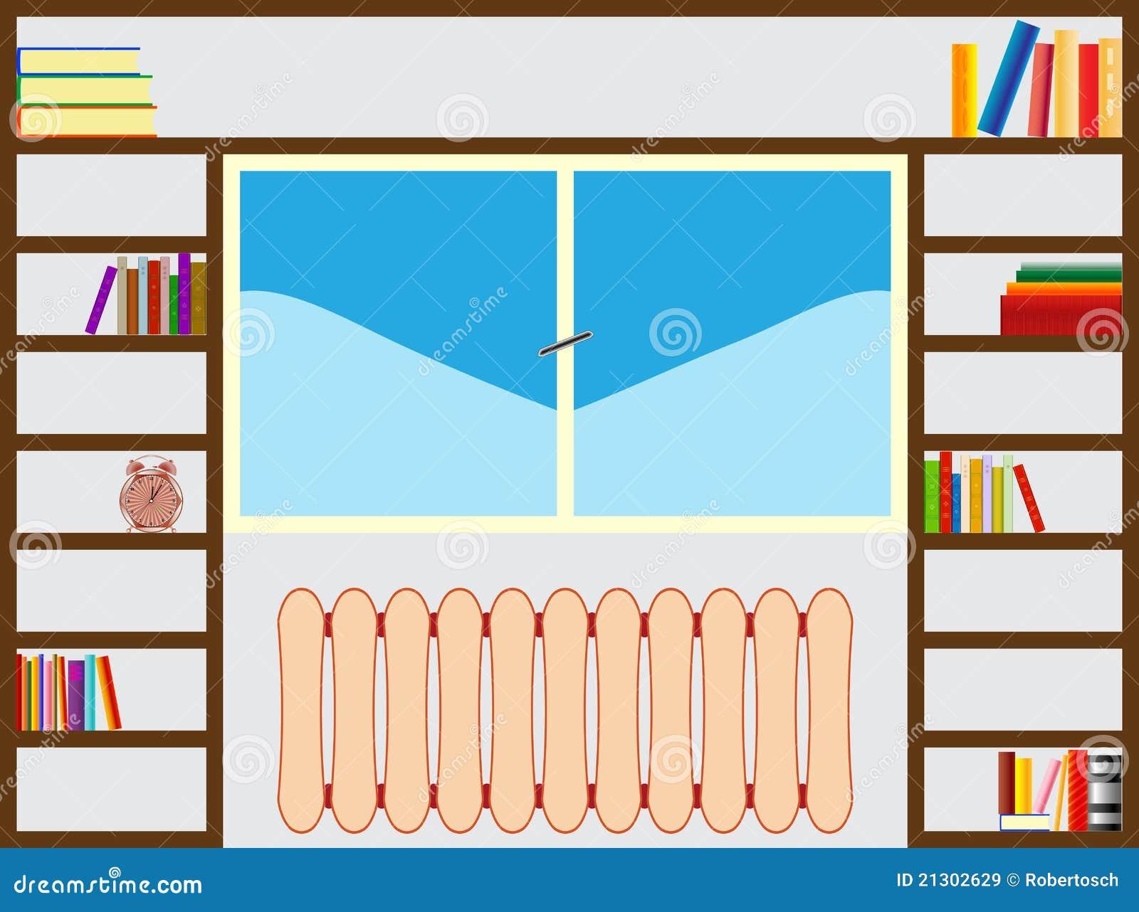 B cherregal um fenster lizenzfreie stockbilder bild - Download er finestra ...