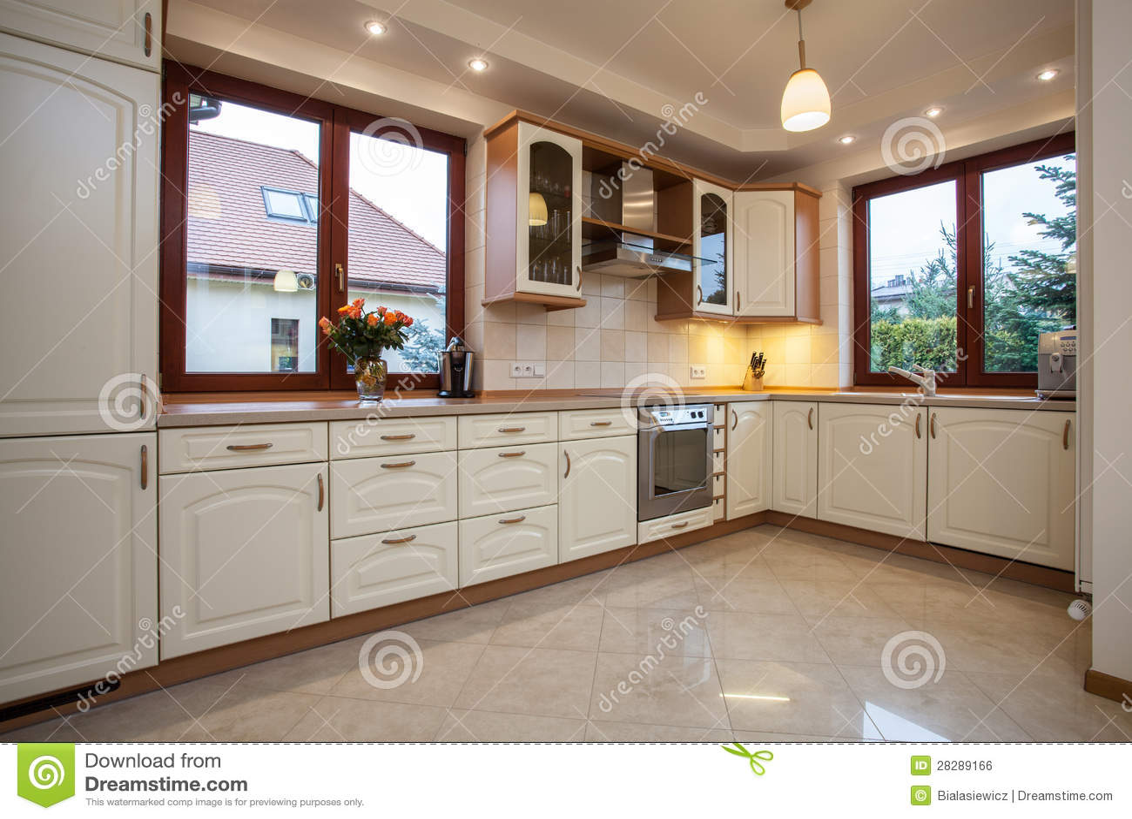 Beżowa Kuchnia Obraz Royalty Free  Obraz 28289166 -> Kuchnia Wloska Obrazy