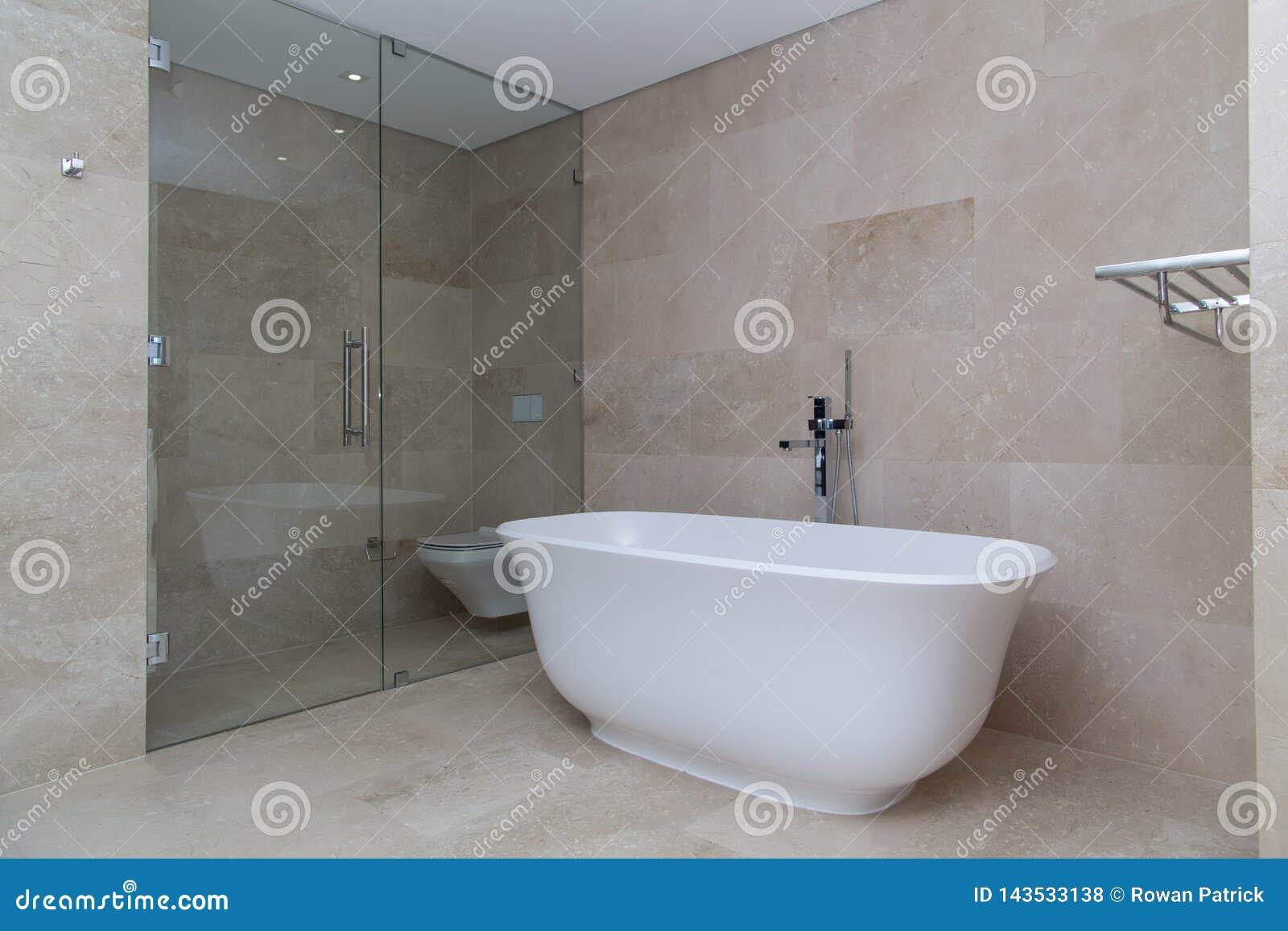 Beżowa nowożytna luksusowa łazienka