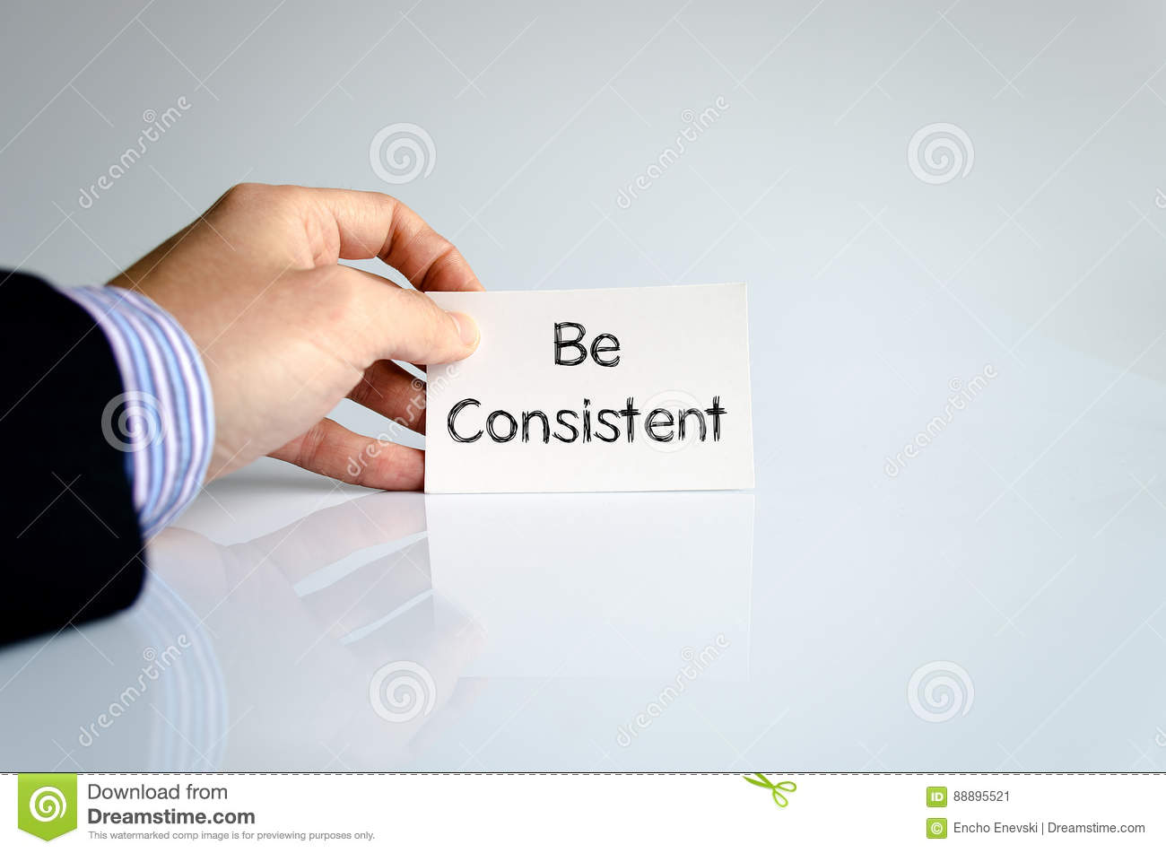 Be consistent text concept