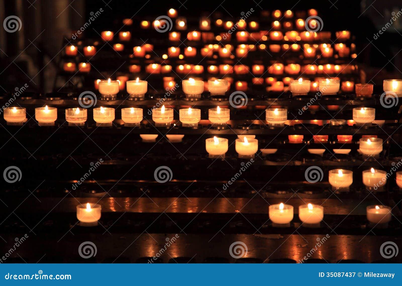 Be för stearinljus