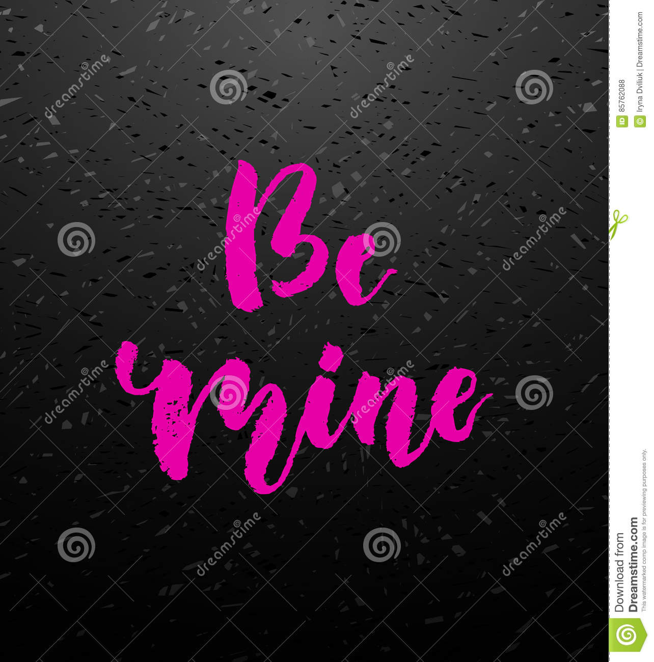 Be mine greeting card with calligraphy stock vector illustration be mine love calligraphy valentines day romantic quote greeting card handwritten modern brush lover lettering for love cards banners posters m4hsunfo