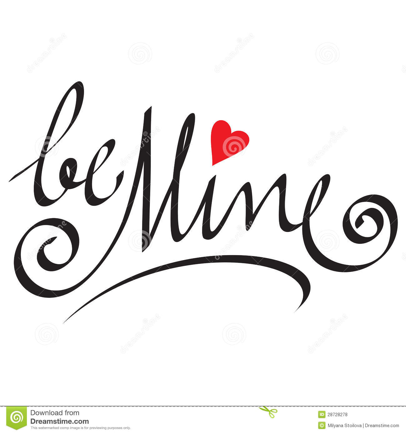Be Mine Hand Lettering Royalty Free Stock Photos Image