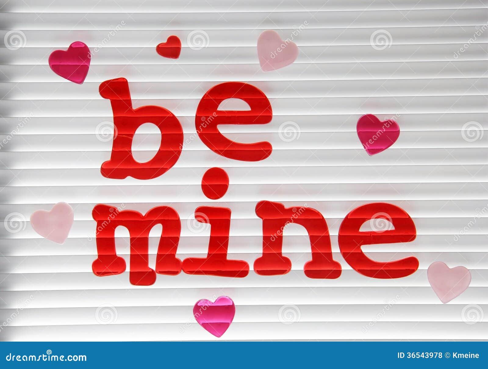 Be Mine Valentine Stuck On A Window