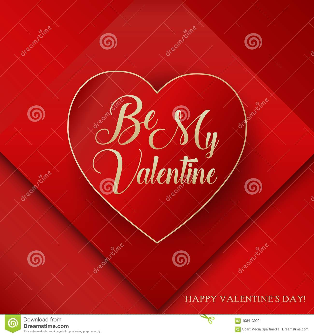 Be My Valentine Lettering Happy Valentines Day