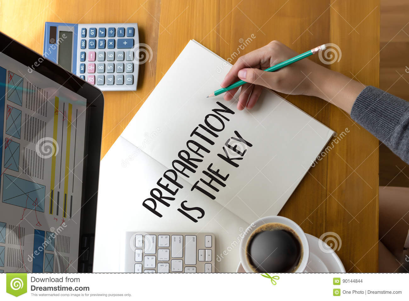 BE PREPARED and PREPARATION IS THE KEY plan, prepare, perform ,