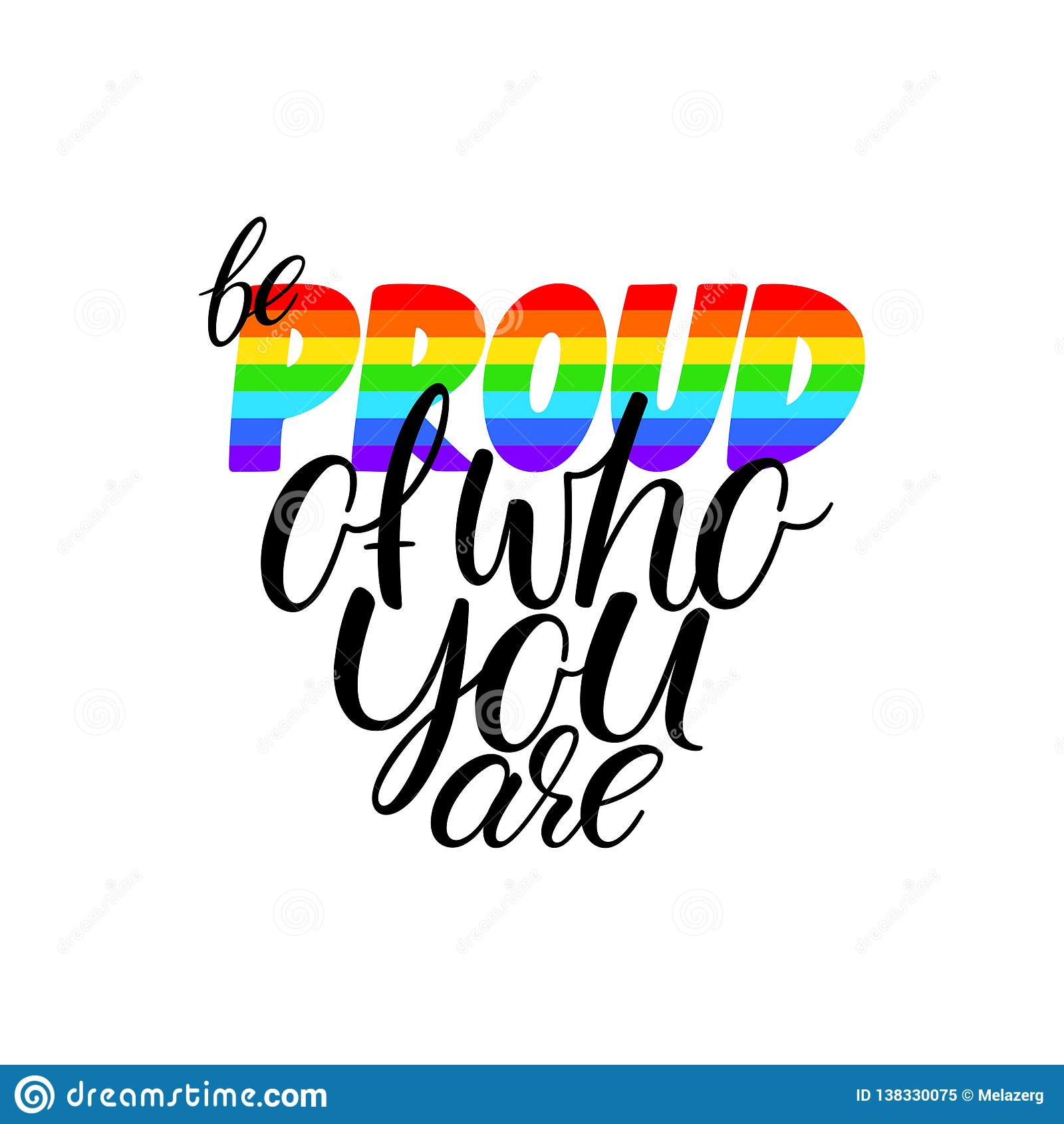 Be proud of who you are stock vector. Illustration of banner ...
