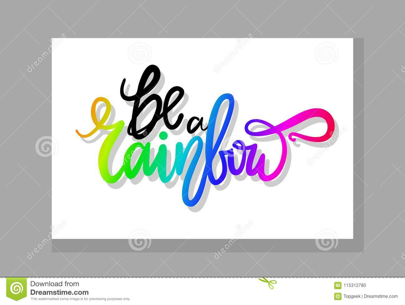 Be a rainbow graffiti with smooth patterned font isolated in grey frame vector illustration with bright colorful beautiful sign