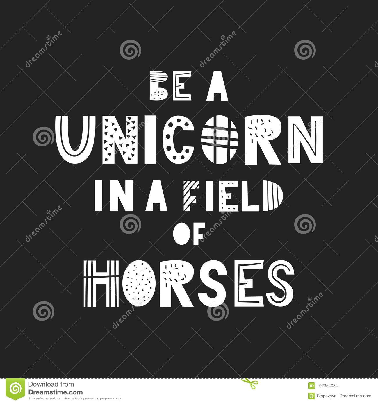 This is a picture of Fan Be a Unicorn in a Field of Horses Free Printable
