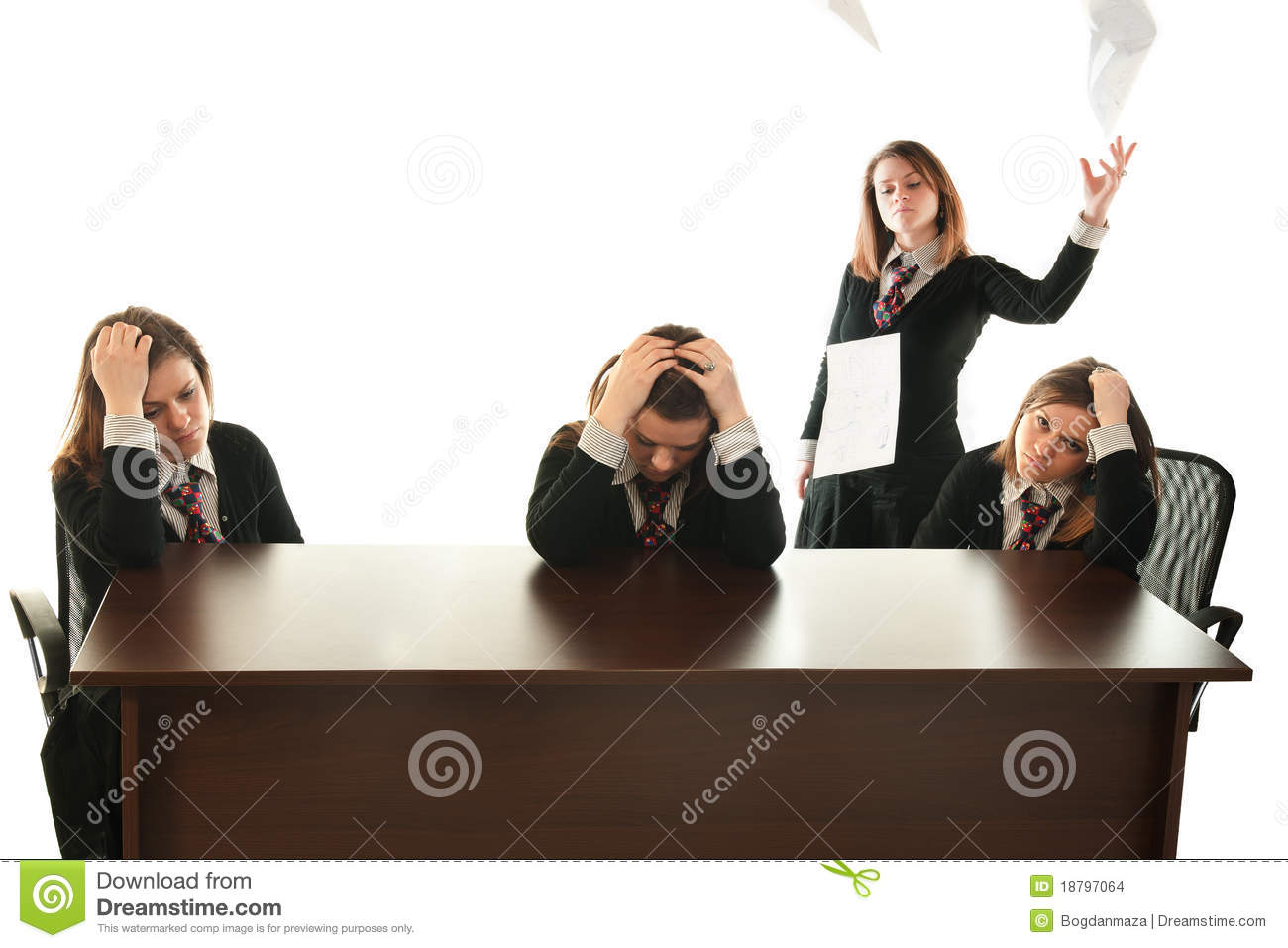 be your own boss stock photo image of desk angry dissatisfied 18797064. Black Bedroom Furniture Sets. Home Design Ideas