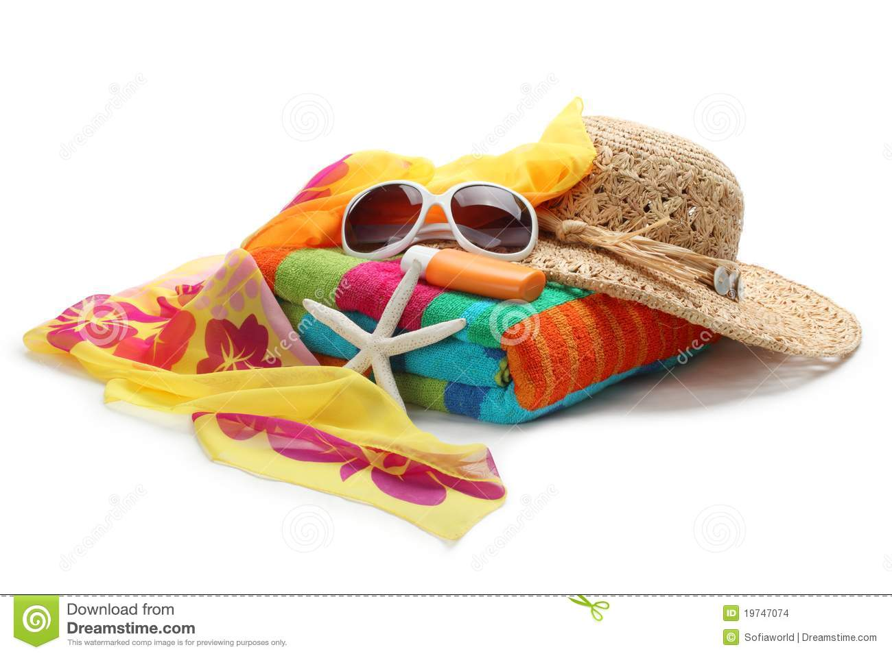 Beach accessories stock photo. Image of florida, fashion ...