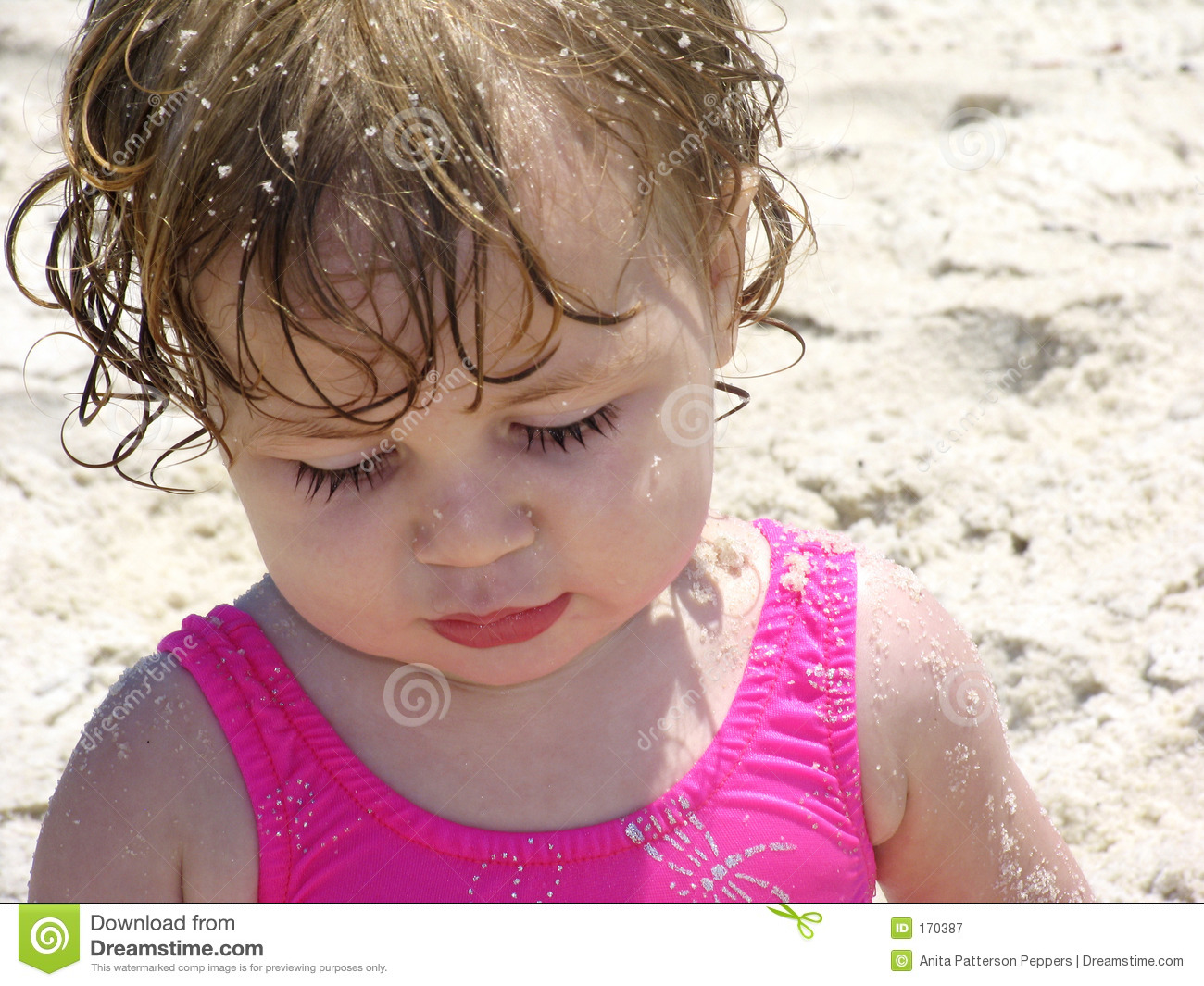 Beach Baby in the Sand