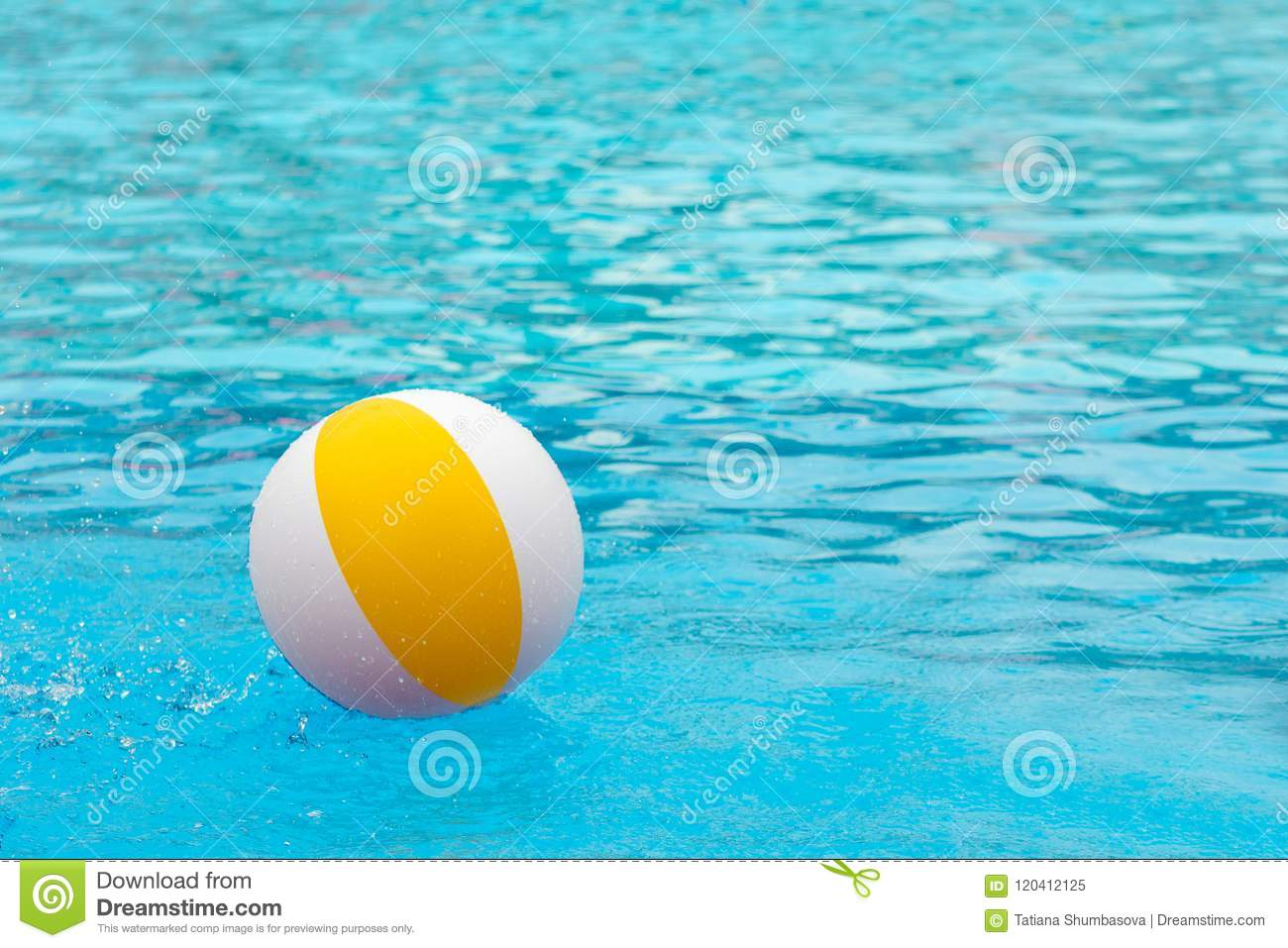 swimming pool beach ball background. Download Beach Ball Floating In A Blue Swimming Pool. Summer Background  Stock Image - Swimming Pool Beach Ball Background B
